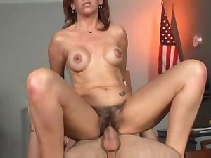 Hawt Aged Cougar Bonks In Office