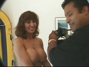 Breasty Older in nylons group-sex