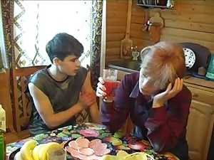 Older in Nylons Bonks her Boyish man