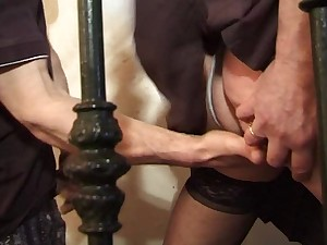 Bushy French Dilettante Mature. Anal