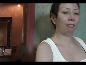 45yr preceding Japanese Aged Aki Ishika Can't live without Pecker (Uncensored)