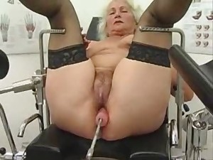 Granny Norma Works beyond the sea on a Sex Device