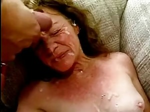 Wrinkly Granny off the Street in a Group sex