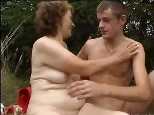 Granny Can't live without Outside Sex with a Small Schlong