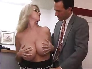 Breasty Aged Secretary Receives Screwed in Office