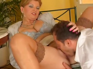 Breasty older feminine receives the fuck of her existence