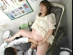 Preggy Japanese getting drilled by the Physician in Ninth month