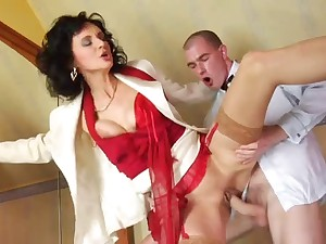 Nylons mature, red footwear anal and spunk flow