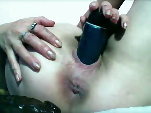 Older marital-device copulates arse and pussy, puckers asshole.