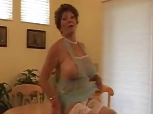 Granny Sconce #34 Hawt Breasty GILF on the Cook-room Table