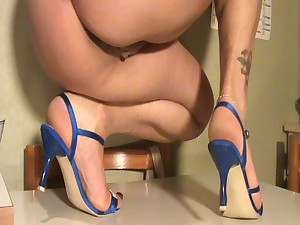 Pedestals off my wife shoeplay