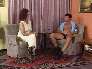 Granny In Darksome Nylons Copulates