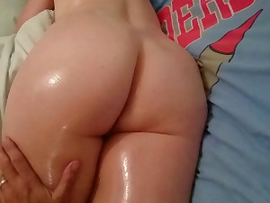 Drubbing My Fifty Year Late Wife's Oiled Booty