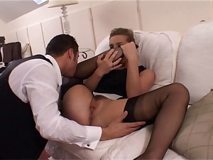 All red Wench Louise in Darksome FF Nylons