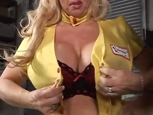 Sexy Bigtitted Blond Cougar Mechanic Acquires It Precious