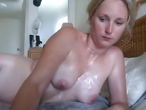 Golden-haired juvenile wife copulates and cum discharged