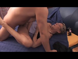 Playgirl BBW Aged Golden-haired Receives Cum on Encounter