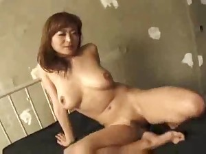 Older Japanese in 3some is DP'ed