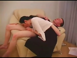 Skiny Russian Older  seduces juvenile waiter