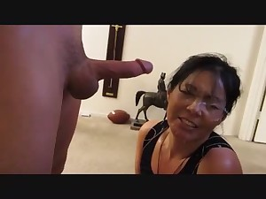 Facial on a aged sexy oriental