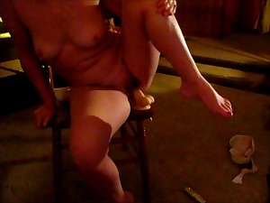 Golden-haired Wife Fine Scones Rides Strapon