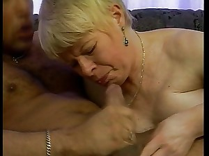 GERMAN GRANNY Screwed IN DOGGY STYLE ON THE Daybed