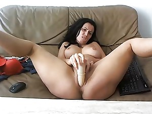 Sexy, breasty MILF teasing on livecam