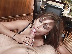 Aged lady does vast oral-sex POV