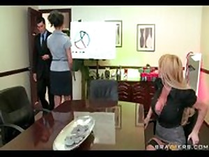BigTit Blond Older Entire red Milf deepthroats  bonks potential co-workers b