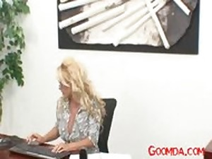 Mommys A Cheater Holly Halston Label office,secretary,boss,ride,blond