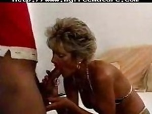 Hawt Granny Breasty Golden-haired Cougar Works Aloft Bbc older older porn granny previous cumshots jizz flow