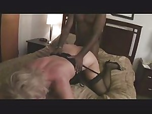 Hawt Curvy Golden-haired Granny Bangs BBC