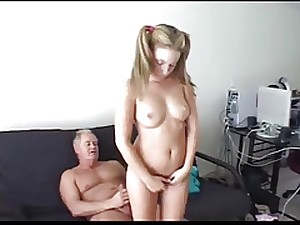 dad punishes not his stepdaughter