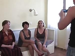 3 Grannies Engulf and Fuck a Youthful Schlong and Every Else
