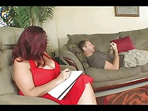 Large Titted BBW Therapy For His 10-Pounder