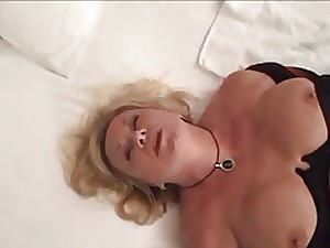 Mrs. Morgan Extracts Jizz From Her Lover's Fuck Stick.