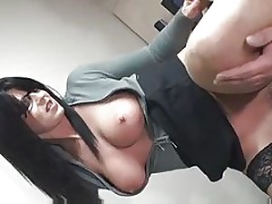 Sexy Dark brown Dilettante MILF Sucks and Bonks