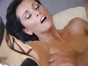 All red MILF Angie fucking and engulfing