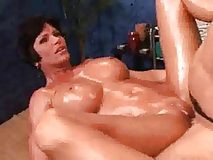 shay coax oil and fuck,massage
