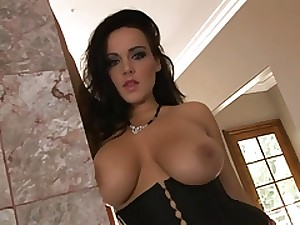 Vast boobs chick gangbanged by great darksome dick