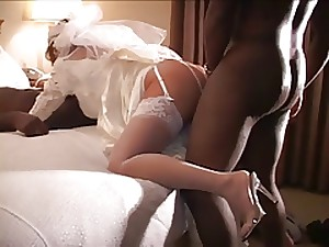 Cuckold marriage darkness with 2 darksome dicks