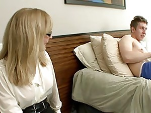 Mamma Catches not Maiden Son Masturbating--daddi