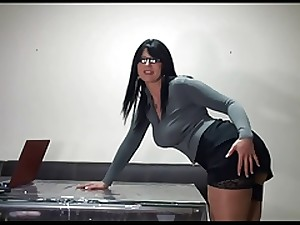 Breasty Secretary Fucking In Office