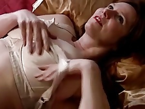 Aged with great mambos and shaggy cum-hole masturbates with toy