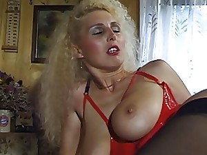 German Milf with vast genuine milk cans takes it tough in her a-hole