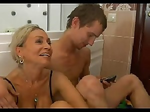 Hawt Mamma n150 golden-haired russian aged milf and a youthful masculine