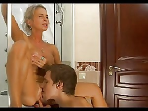 Hawt Mama n149russian blond sexually excited aged milf and juvenile masculine