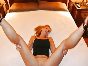 Golden-haired white milf with dark fellow whilst hubby films