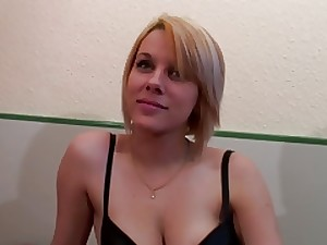 Nice-looking french blond with ambitious love muffins can't live without anal fucking and love tunnel fisting