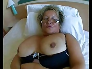 BBW Granny with large love muffins in Difficult Anal